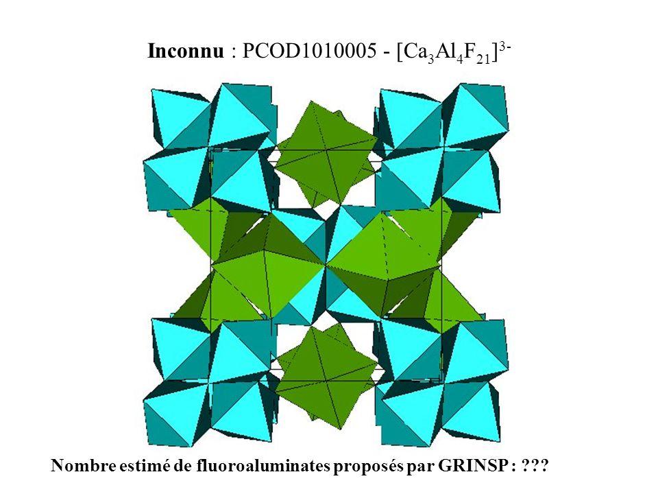 Inconnu : PCOD1010005 - [Ca3Al4F21]3-